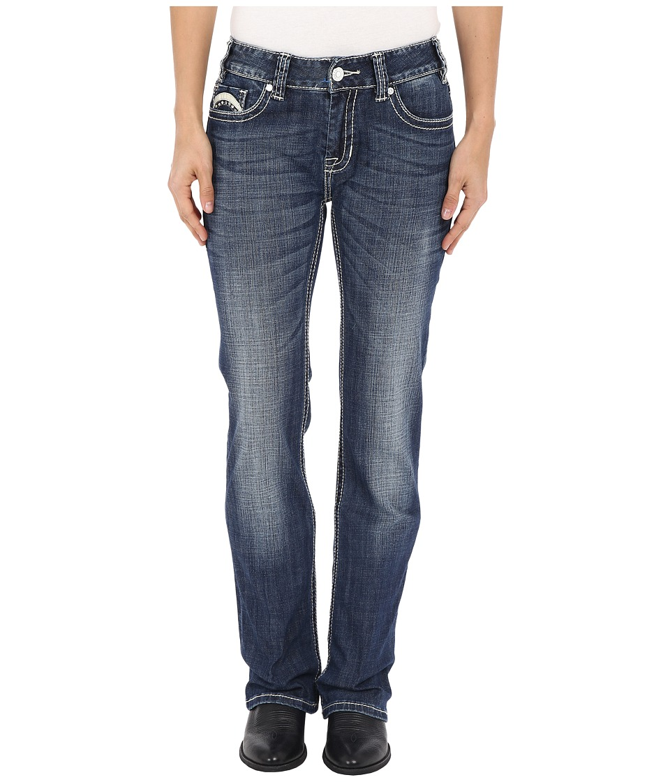 Rock and Roll Cowgirl Mid Rise Bootcut in Dark Vintage W1 6429 Dark Vintage Womens Jeans