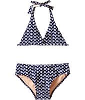 Toobydoo - Navy/White Pattern String Bikini (Infant/Toddler/Little Kids/Big Kids)