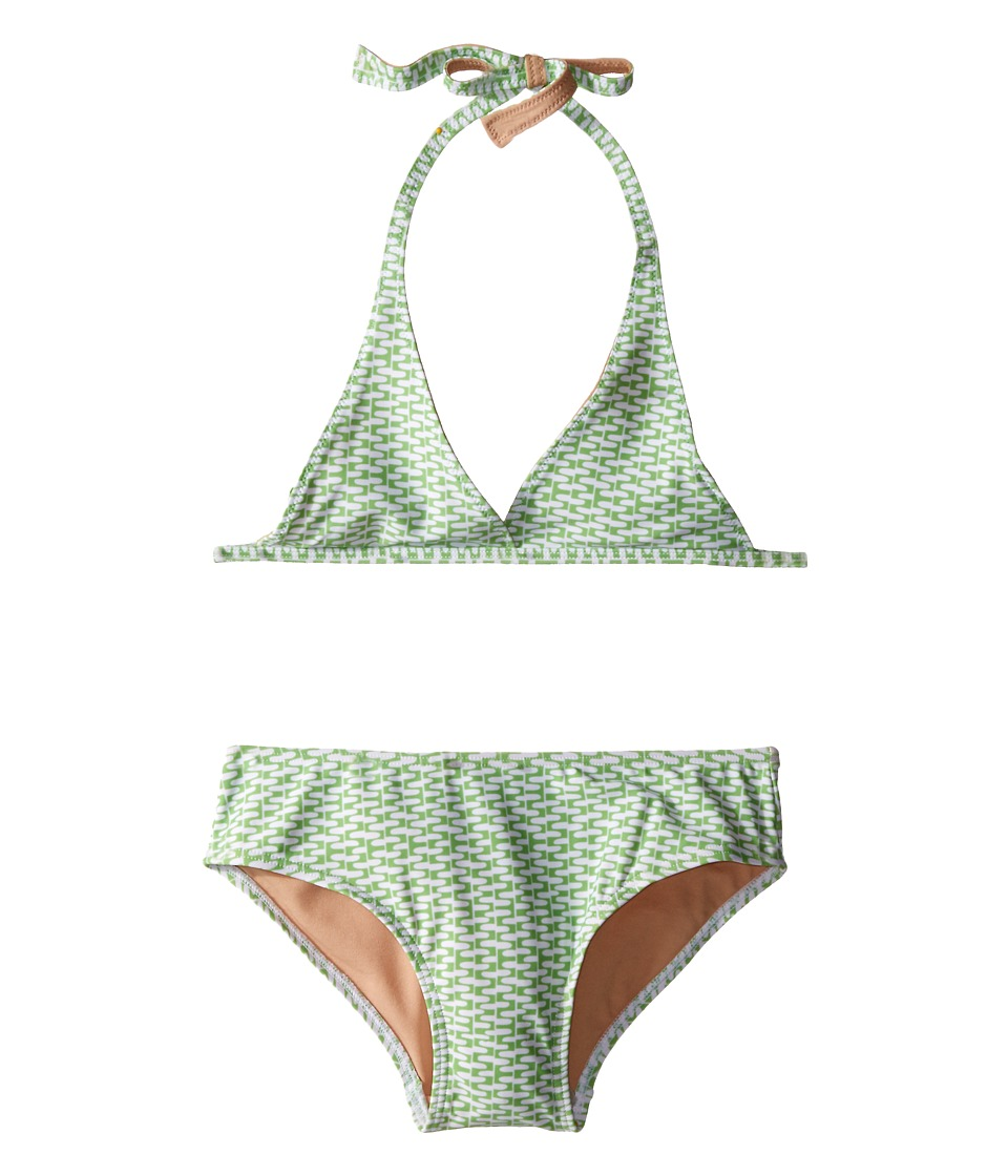 Toobydoo Green/White String Bikini Infant/Toddler/Little Kids/Big Kids Green/White Girls Swimwear Sets