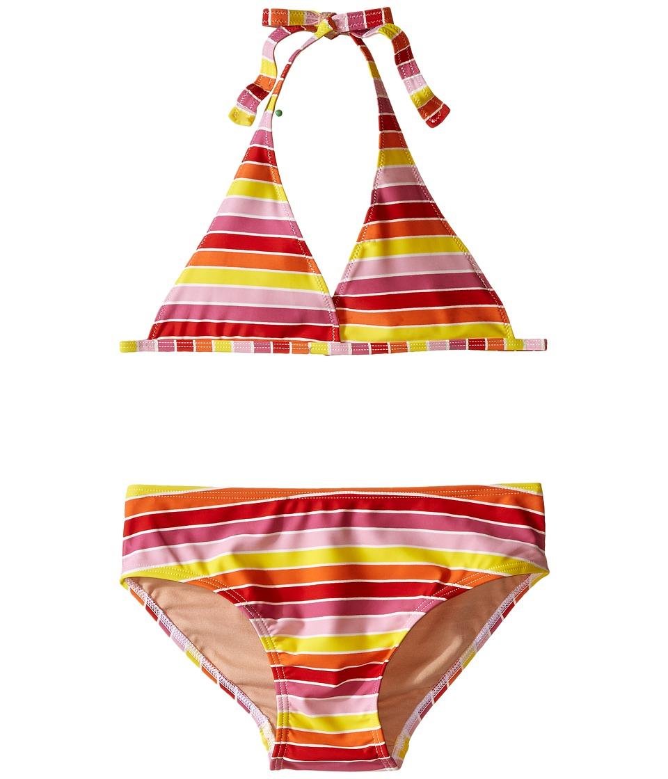 Toobydoo Multi Stripe String Bikini Infant/Toddler/Little Kids/Big Kids Yellow/Orange/Red/Pink Girls Swimwear Sets