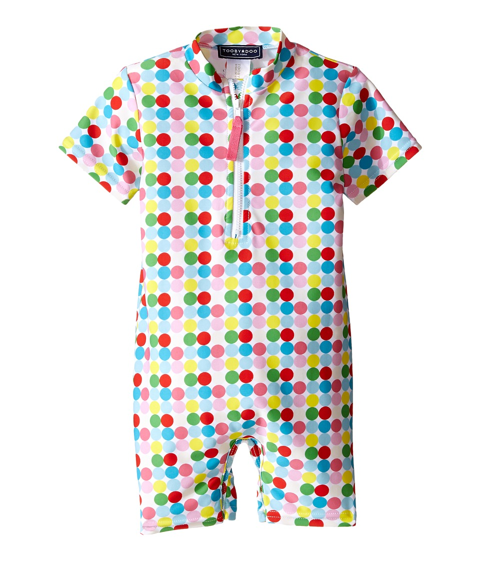 Toobydoo Dot/White Stripe Short Sleeve Sunsuit Infant Green/Blue/Red/Yellow/White Dot Girls Jumpsuit Rompers One Piece