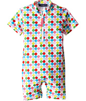 Toobydoo - Dot/White Stripe Short Sleeve Sunsuit (Infant)
