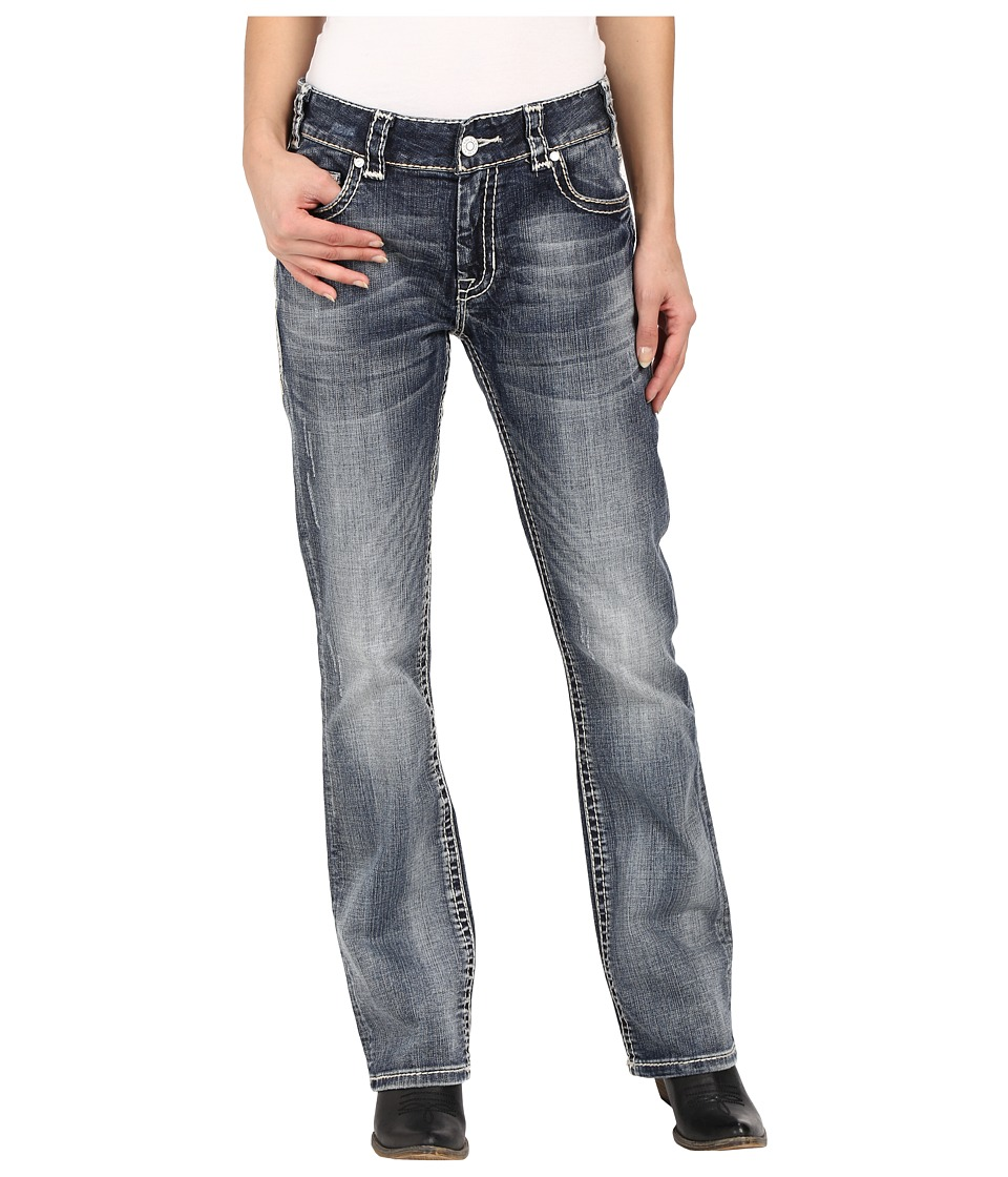 Rock and Roll Cowgirl Boyfriend Bootcut in Medium Vintage W2 6421 Medium Vintage Womens Jeans
