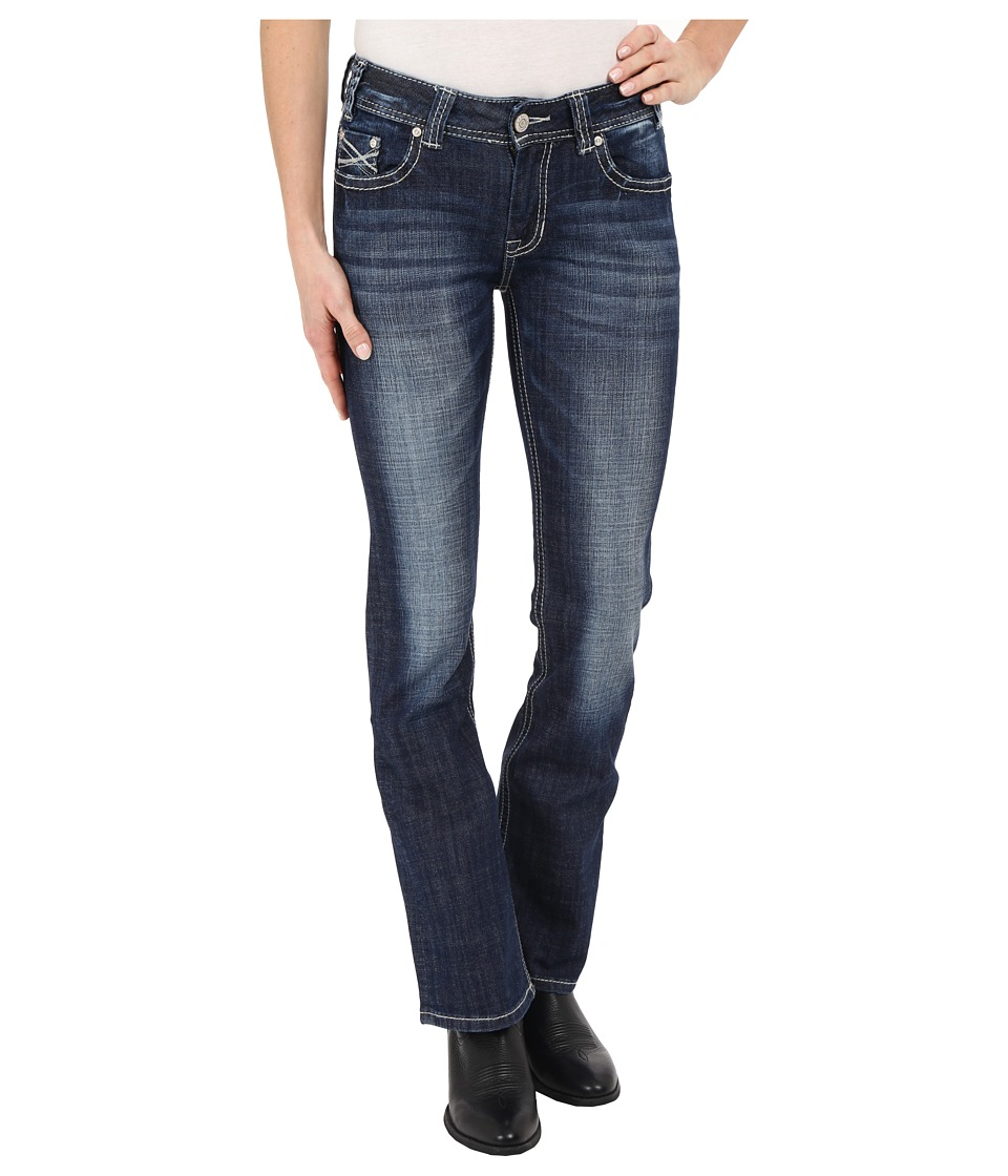 Rock and Roll Cowgirl Mid Rise Bootcut in Medium Vintage W1 6435 Medium Vintage Womens Jeans