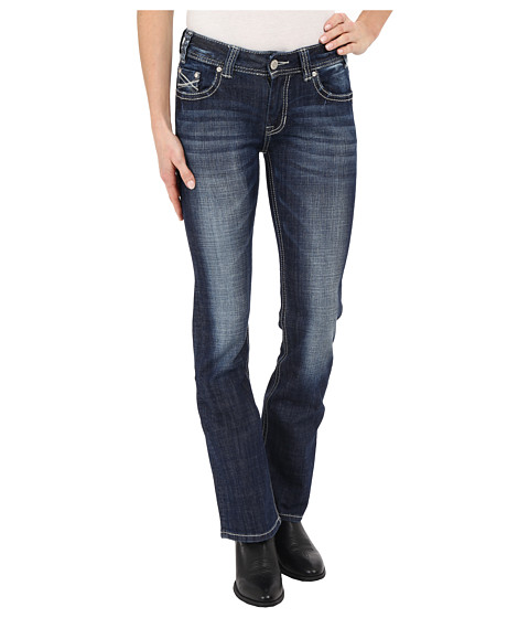 Rock and Roll Cowgirl Mid-Rise Bootcut in Medium Vintage W1-6435