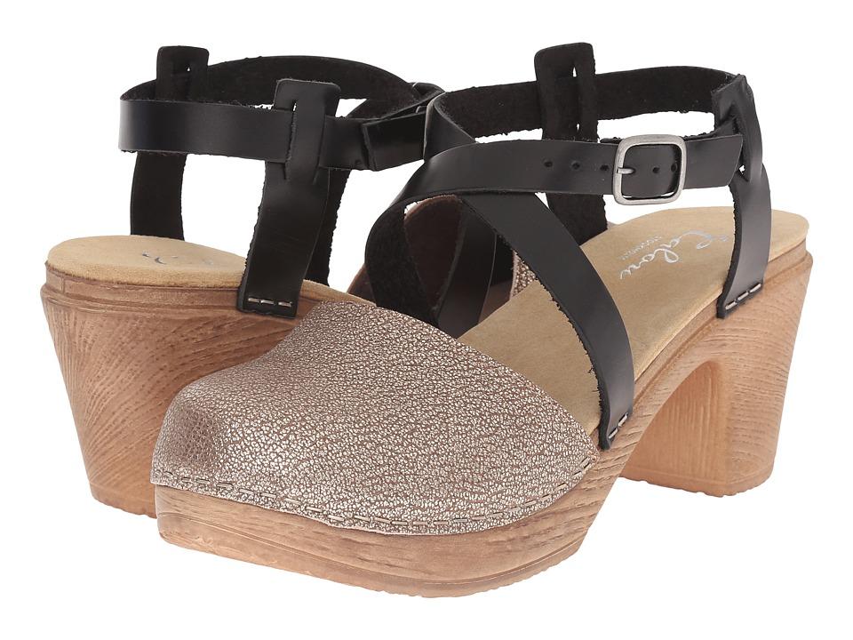 Calou Stockholm Tilda Black/Bronze Womens Shoes