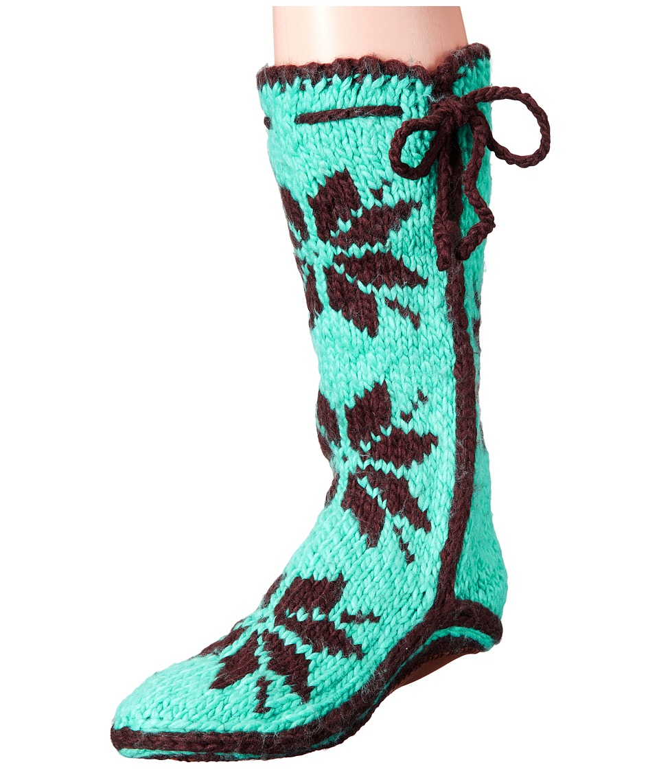 Woolrich Chalet Sock (Turquoise) Slippers