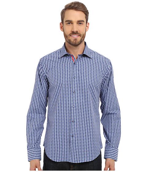BUGATCHI The Richard Shaped Fit Long Sleeve Woven Shirt