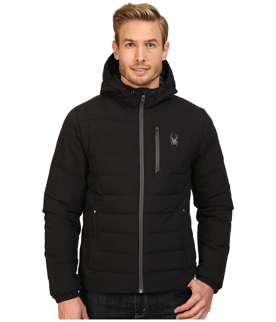 Spyder Dolomite Hoodie Down Jacket (Black/Polar) Men