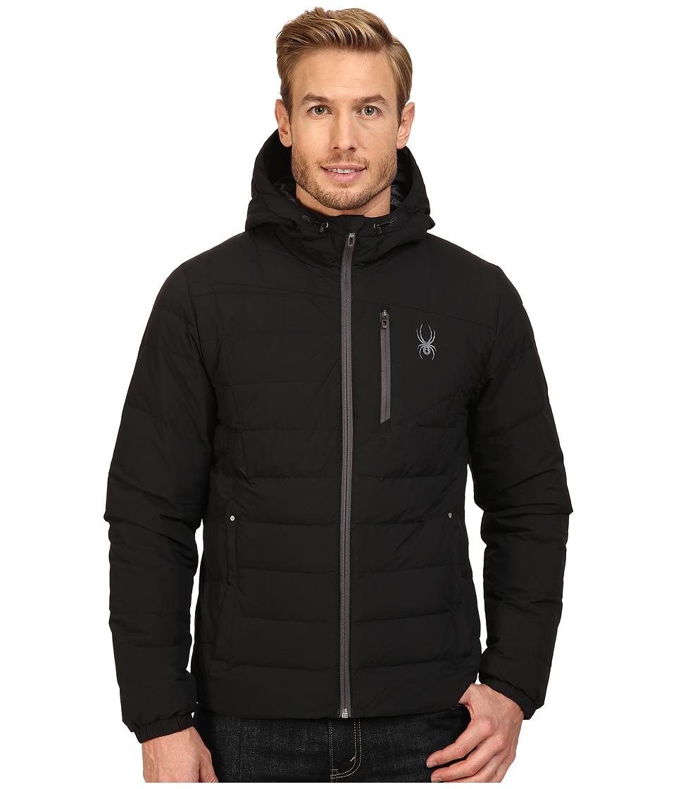 Spyder Dolomite Hoodie Down Jacket (Black/Polar) Men