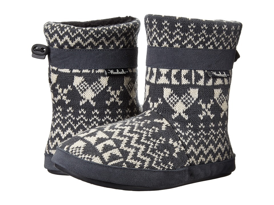 Woolrich Whitecap Knit Boot (Charcoal Snowshoe Sweater) Women