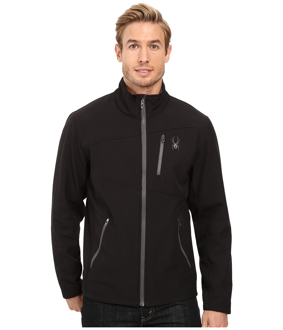 Spyder Fresh Air Softshell Jacket (Black/Polar) Men