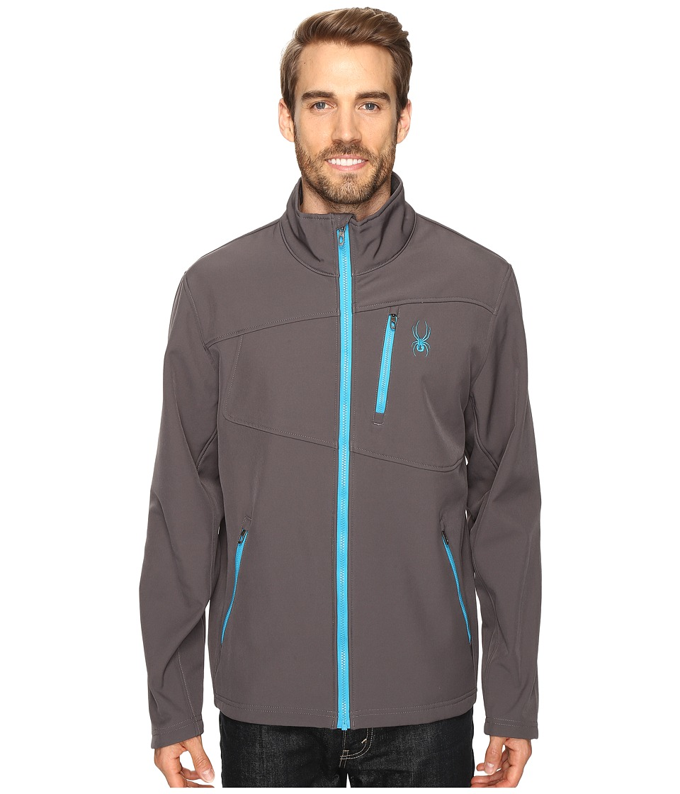 Spyder Fresh Air Softshell Jacket (Polar/Electric Blue) Men