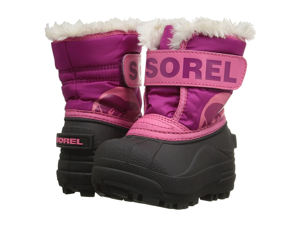 SOREL Kids - Snow Commander (Toddler) (Tropic Pink/Deep Blush) Girls Shoes