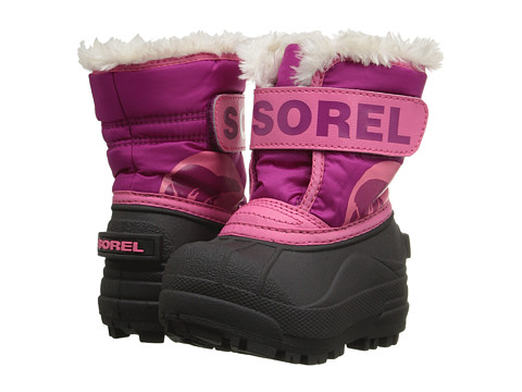 SOREL Kids Snow Commander (Toddler) - Tropic Pink/Deep Blush