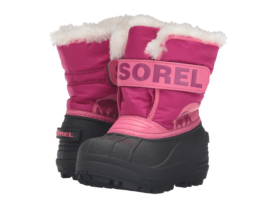 SOREL Kids - Snow Commander (Toddler/Little Kid) (Tropic Pink/Deep Blush) Girls Shoes