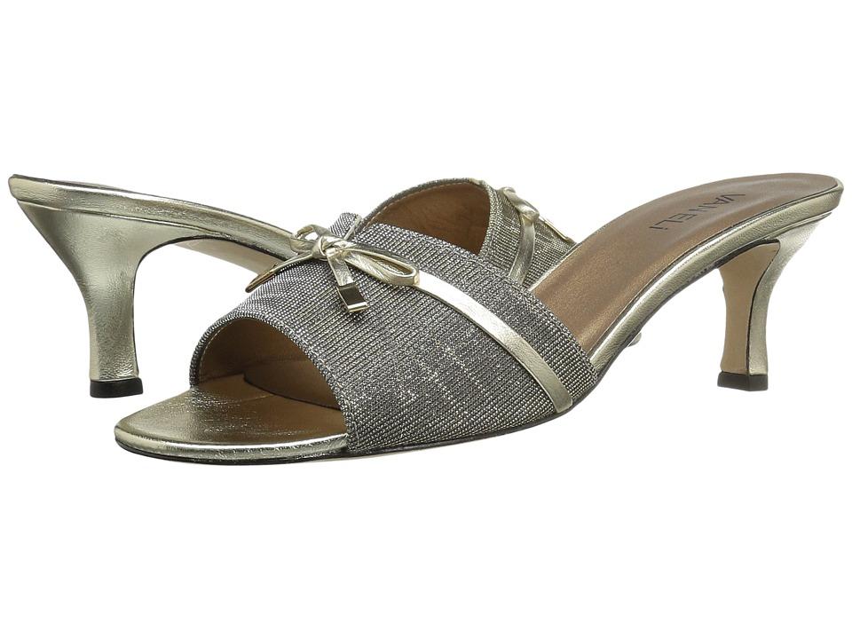 Vaneli Magod (Platinum Nizza Fabric/Platino Metallic Napa/Gold Tip) Women's Shoes
