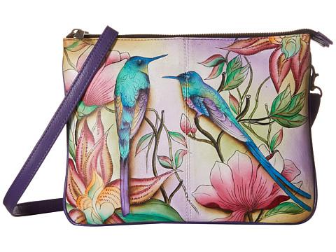 Anuschka Handbags 570 Triple Compartment Crossbody - Spring Passion