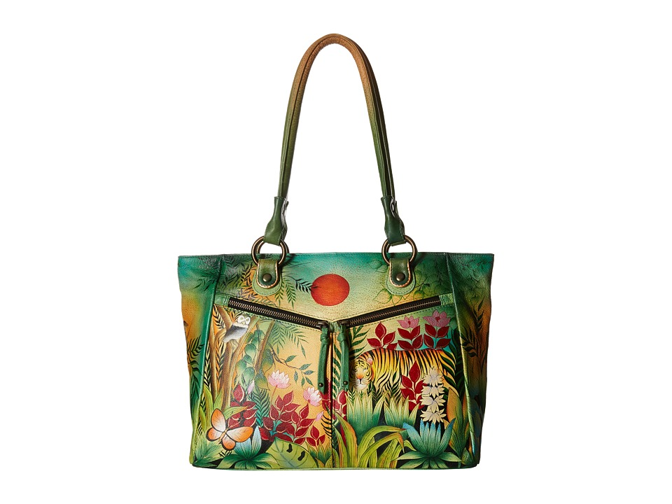 Anuschka Handbags - 562 (Rousseau s Jungle) Tote Handbags