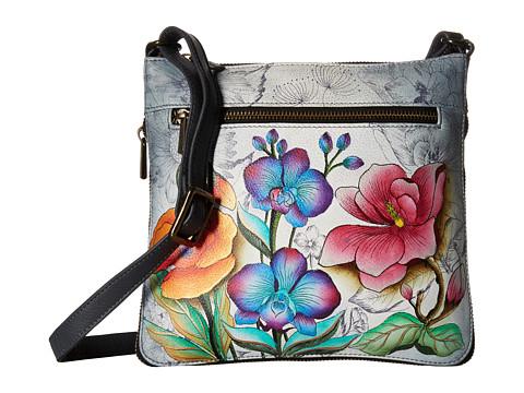 Anuschka Handbags 550 Expandable Travel Crossbody - Floral Fantasy