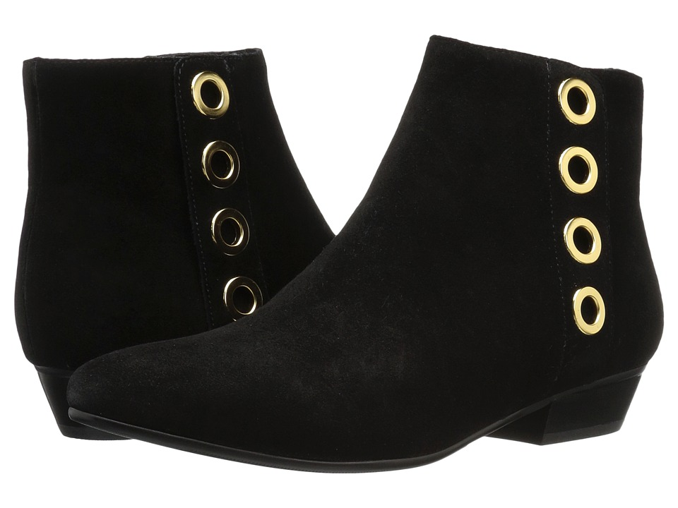 Vaneli - Mikus (Black Calf Suede/Gunmetal Trim) Women