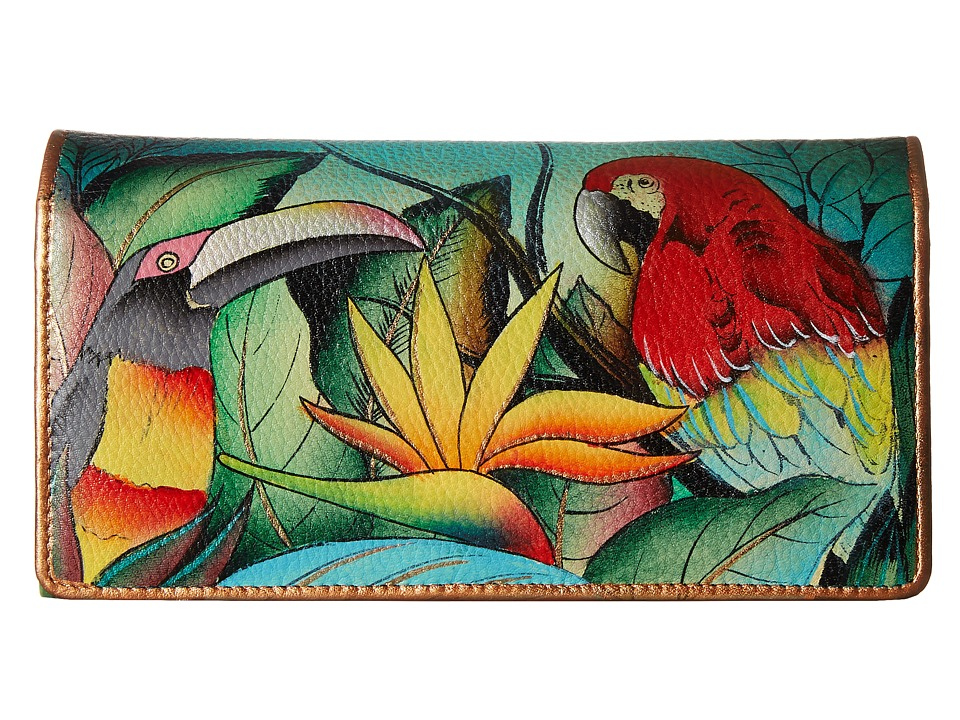 Anuschka Handbags 1095 Tropical Bliss Checkbook Wallet