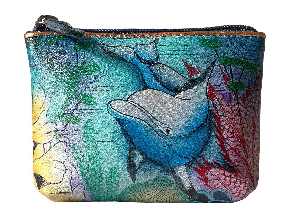 Image of Anuschka Handbags - 1031 Coin Pouch (Dolphin World) Handbags