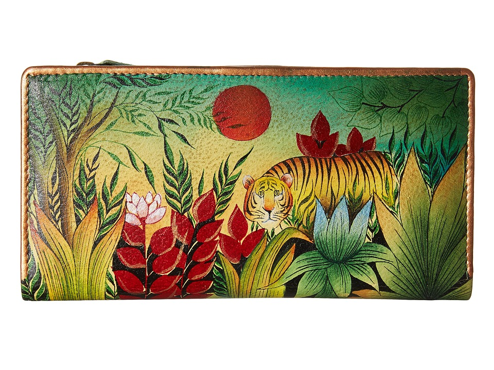 Anuschka Handbags 1088 Rousseau s Jungle Clutch Handbags
