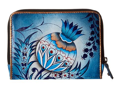 Anuschka Handbags 1124 Zip Around Credit Card Case - Bewitching Blues