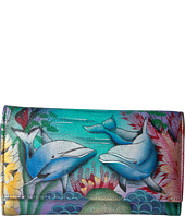 Anuschka Handbags - 1042 Check Book Wallet/Clutch