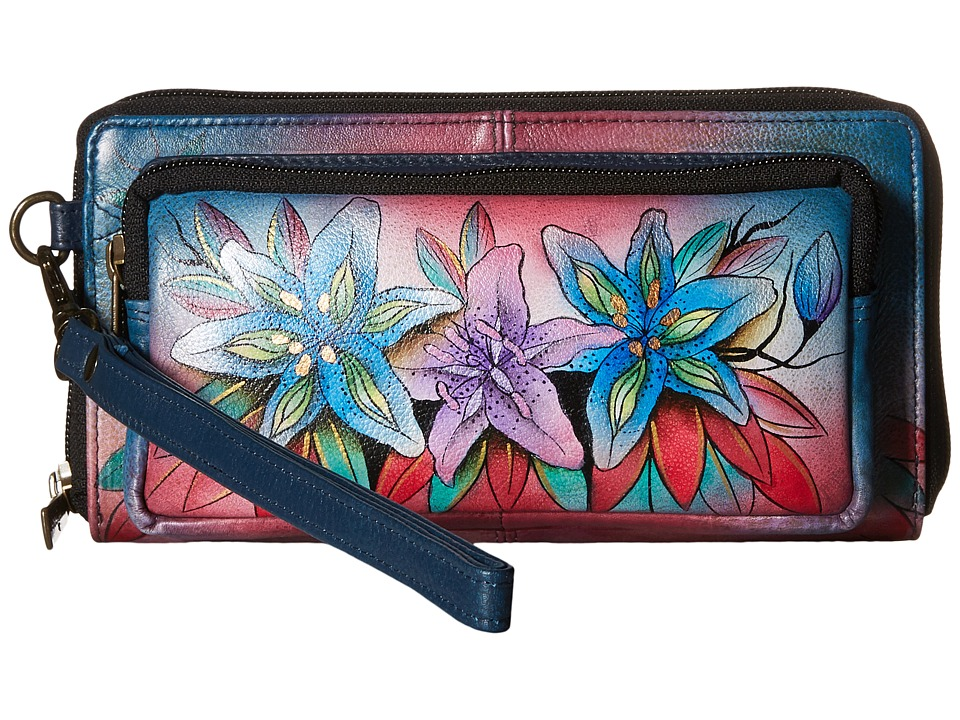 Anuschka Handbags - 1111 (Luscious Lilies Denim) Handbags