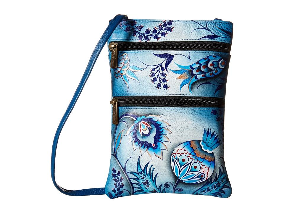 Anuschka Handbags - 448 Mini Double Zip Travel Crossbody