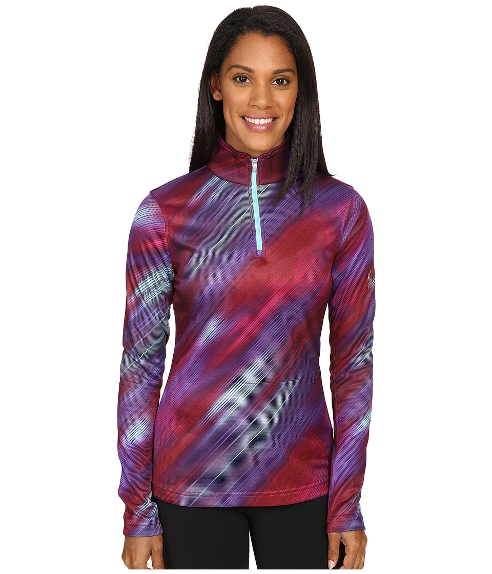 Spyder - Collection T-Neck Top (Geo Rays Voila Print) Women