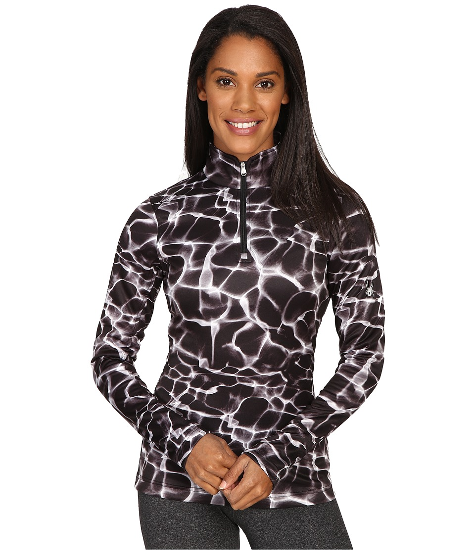 Spyder - Collection T-Neck Top (Waves Black Print) Women
