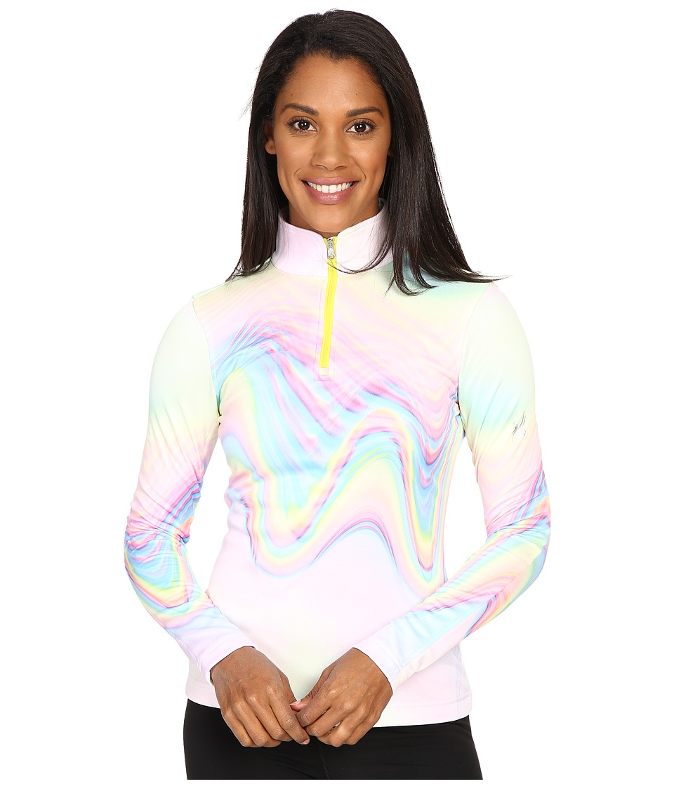 Spyder Collection T-Neck Top (Holo Multi Print) Women