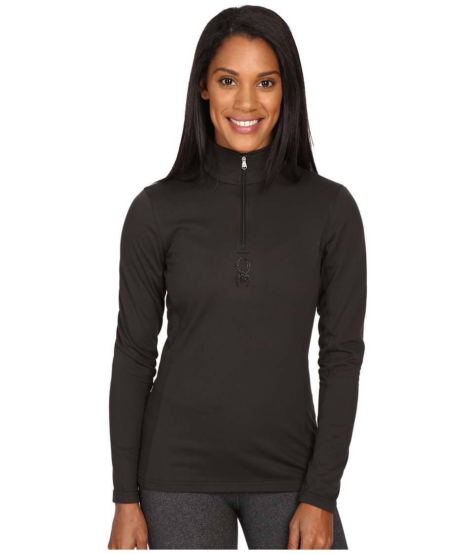Spyder - Shimmer Bug Velour Fleece T-Neck Top (Black) Women