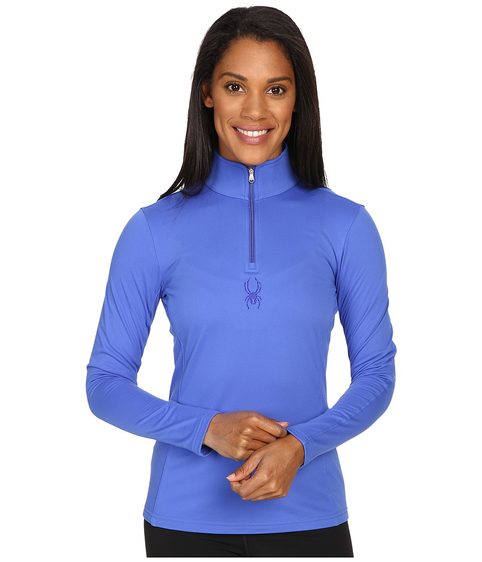 Spyder - Shimmer Bug Velour Fleece T-Neck Top (Bling) Women