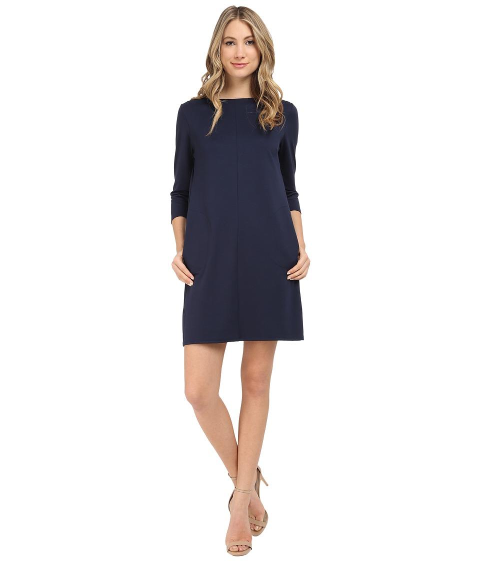 Brigitte Bailey Calin 3/4 Sleeve Dress with Pockets Navy Womens Dress