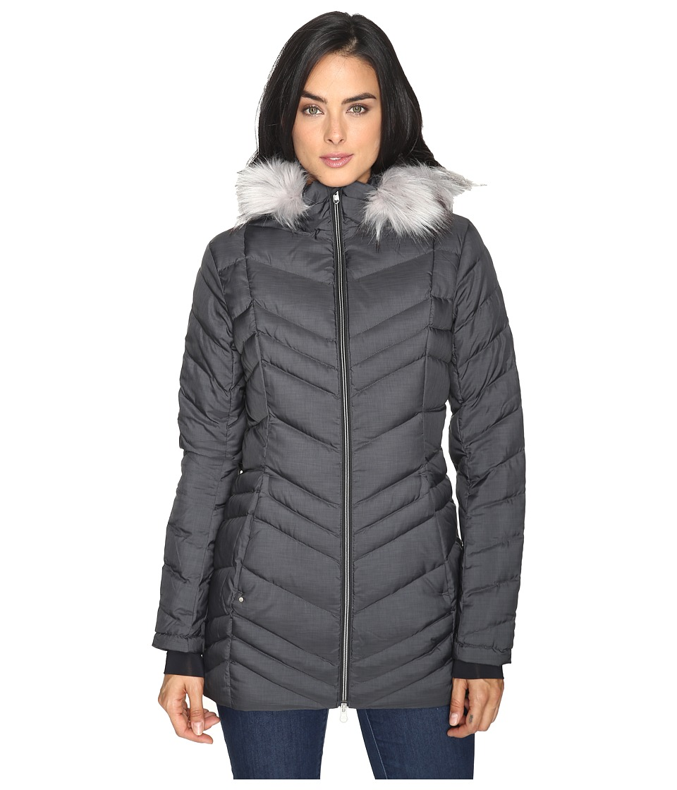 Spyder Timeless Long Faux Fur Down Jacket (Black) Women