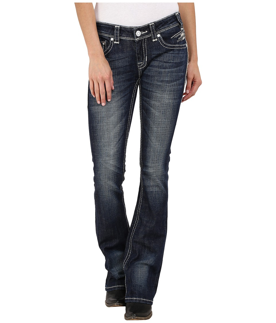 Rock and Roll Cowgirl Rival Bootcut in Dark Vintage W6 6445 Dark Vintage Womens Jeans