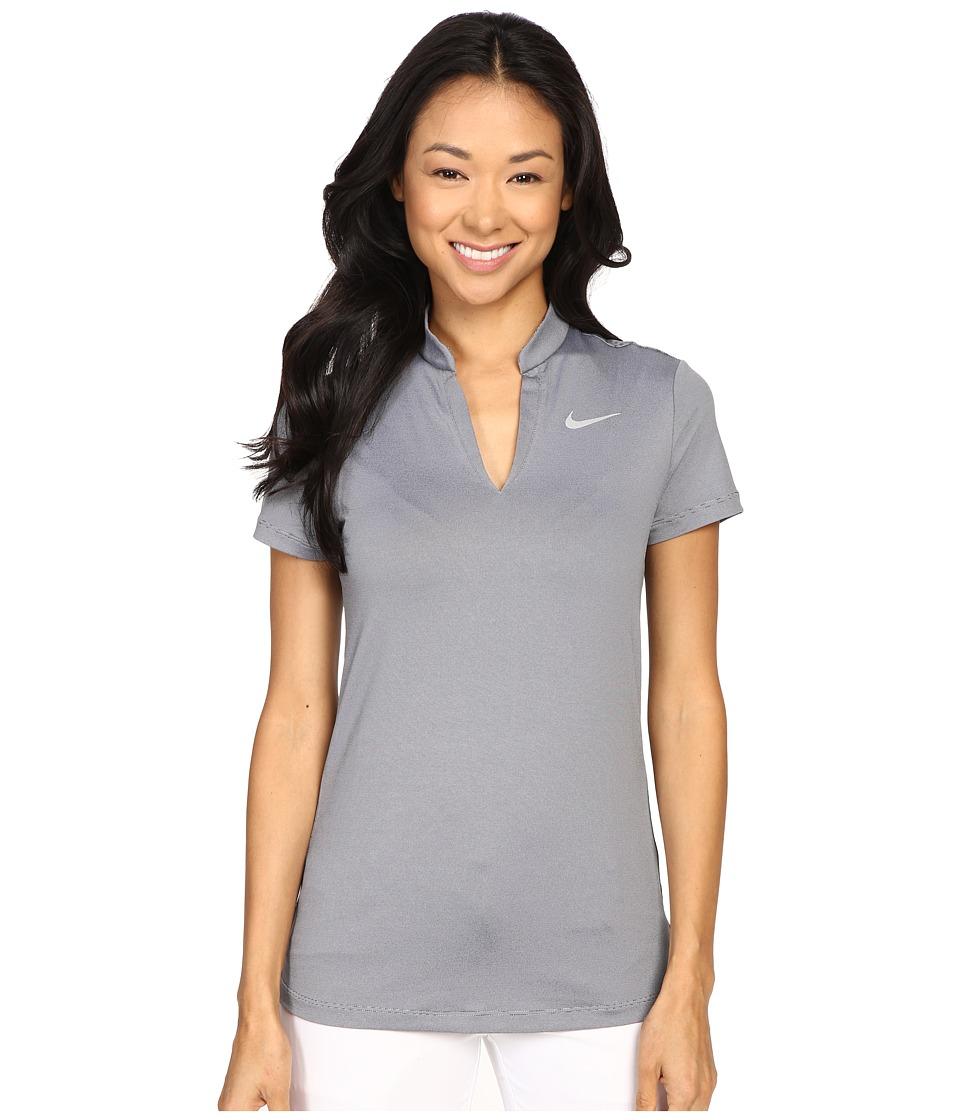 Nike Golf - Ace Swing Knit Polo (Wolf Grey/Black/Reflective Silver) Women