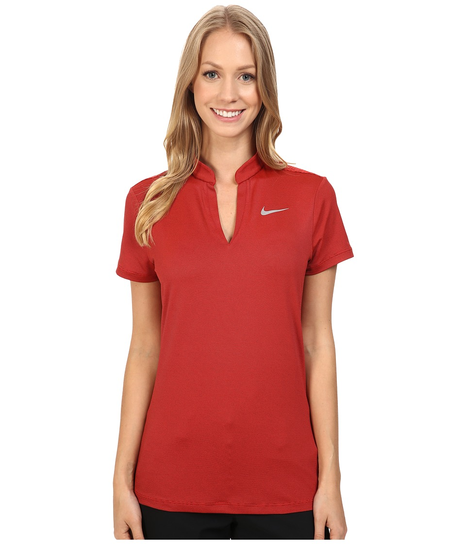 Nike Golf - Ace Swing Knit Polo (Light Crimson/Black/Reflective Silver) Women