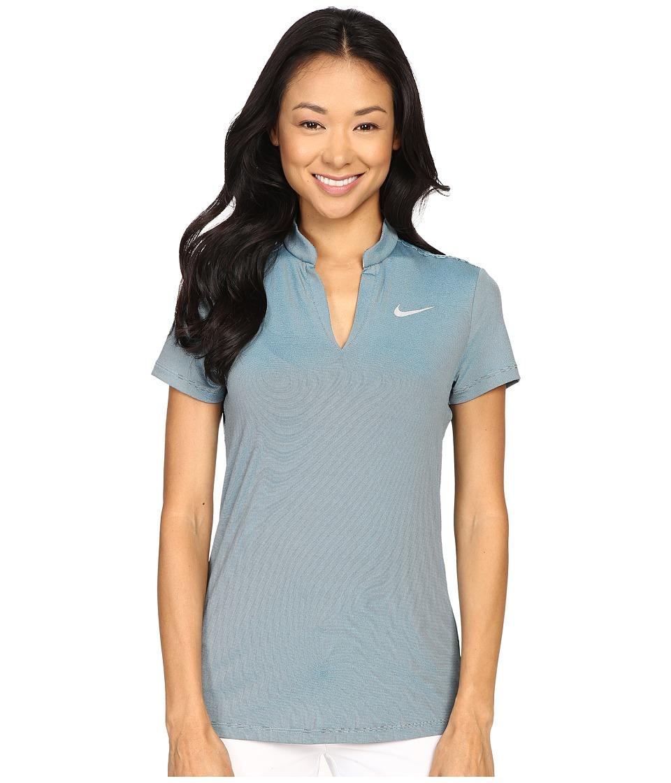 Nike Golf - Ace Swing Knit Polo (Copa/Black/Reflective Silver) Women