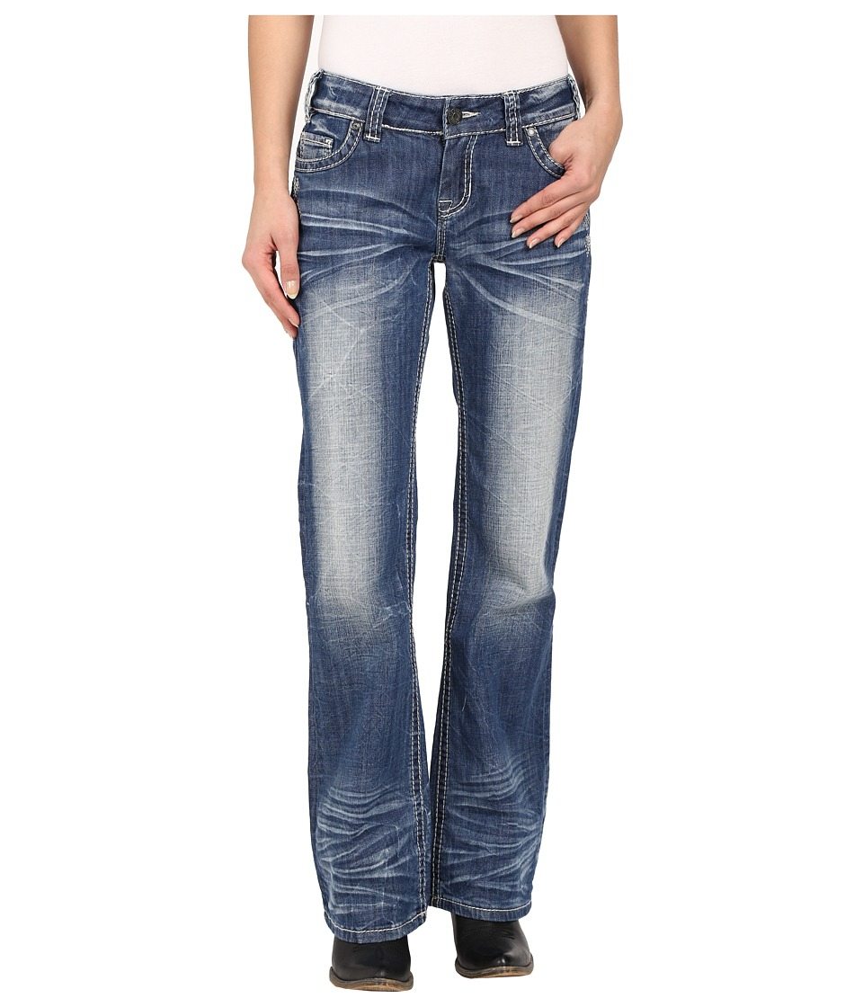 Rock and Roll Cowgirl Riding Bootcut in Medium Vintage W7 6438 Medium Vintage Womens Jeans