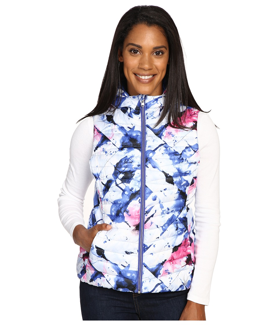 Spyder - Timeless Down Vest (Freeze Bling/Bling) Women