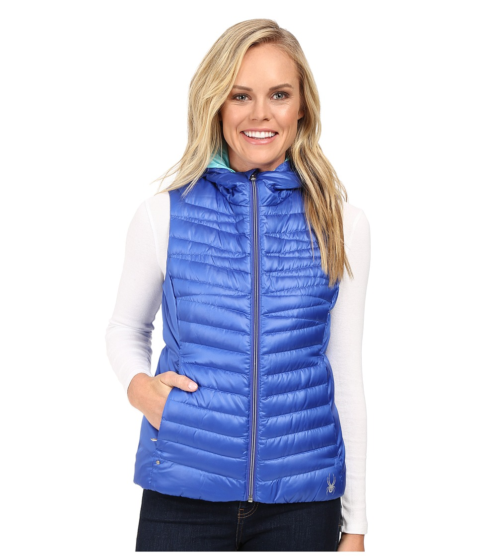 Spyder - Timeless Down Vest (Bling/Freeze) Women