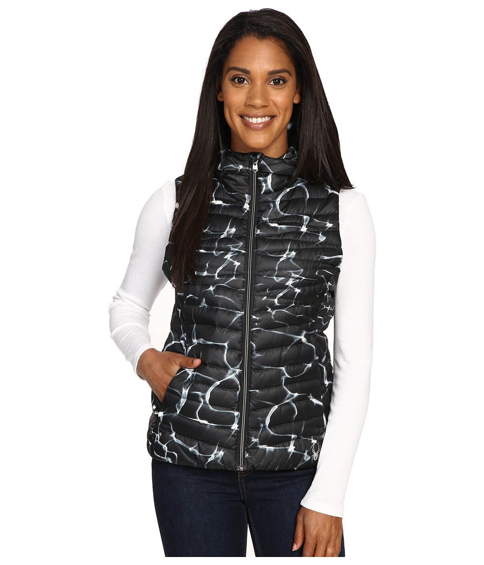 Spyder - Timeless Down Vest (Waves Black/Black) Women