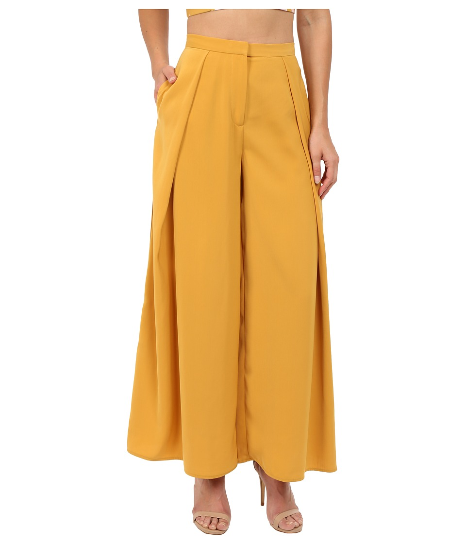 KEEPSAKE THE LABEL Mercy Pants Mustard Womens Casual Pants