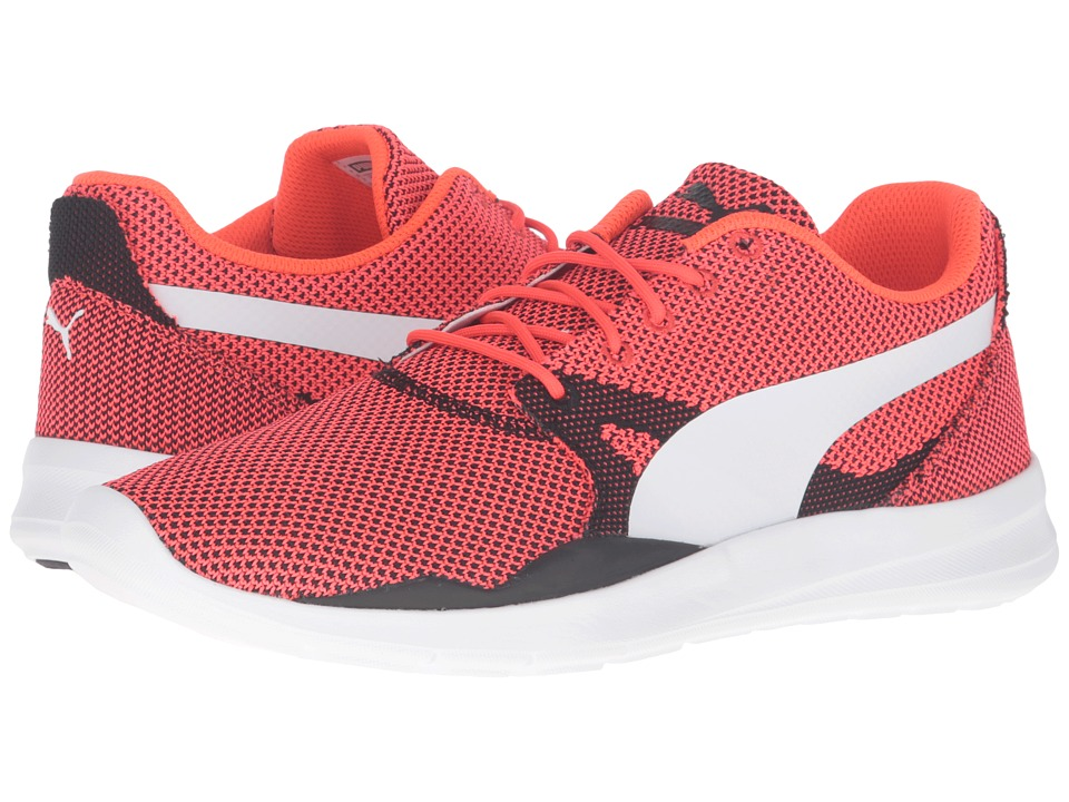 PUMA - Duplex Evo Knit (Red Blast/Glacier Gray) Men