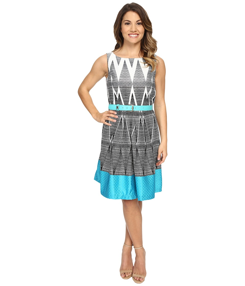 Tahari by ASL Petite Petite Darryl Q Belt Dress Turquoise Womens Dress